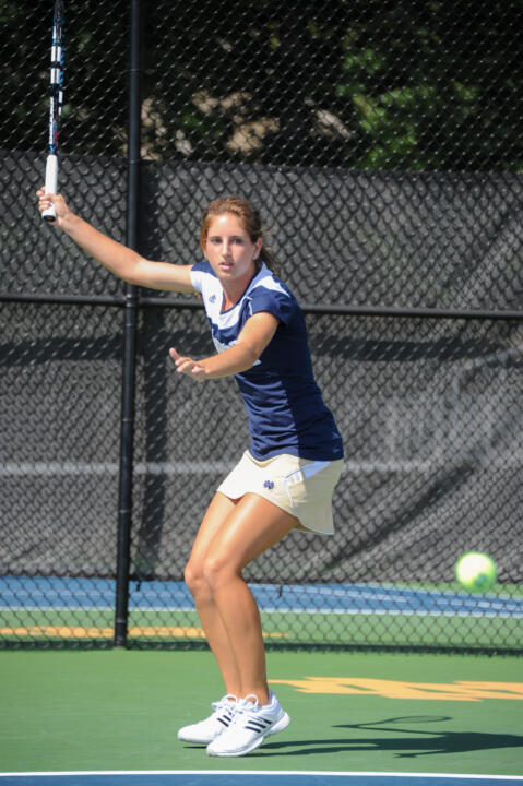 Junior Jennifer Kellner won all three of her matches (singles and doubles combined) during the opening weekend of the 2013 season