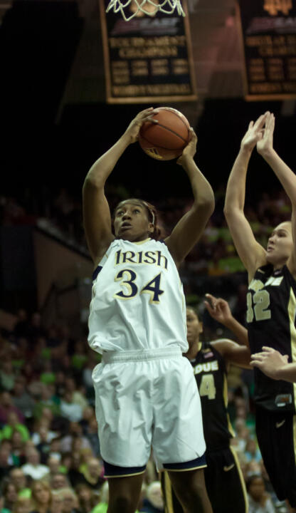 Sophomore forward Markisha Wright scored a season-high 20 points in Notre Dame's win over Saint Francis (Pa.) on Monday afternoon to close out the pre-conference schedule for the Fighting Irish.