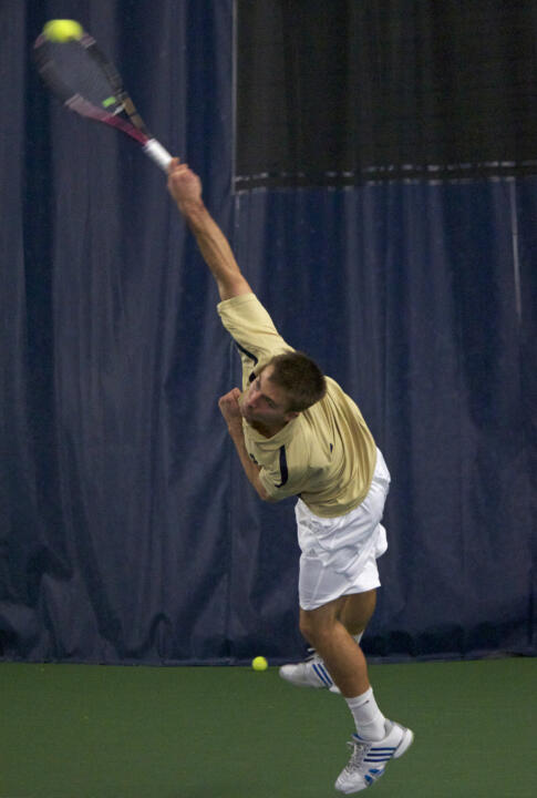 Junior Matt Dooley has seen action at both singles and doubles so far this spring season.
