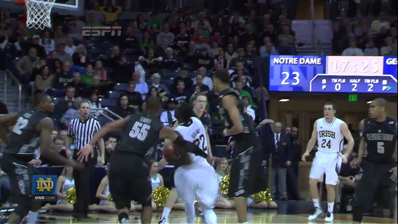 Irish Fall to Georgetown - Notre Dame Men's Basketball