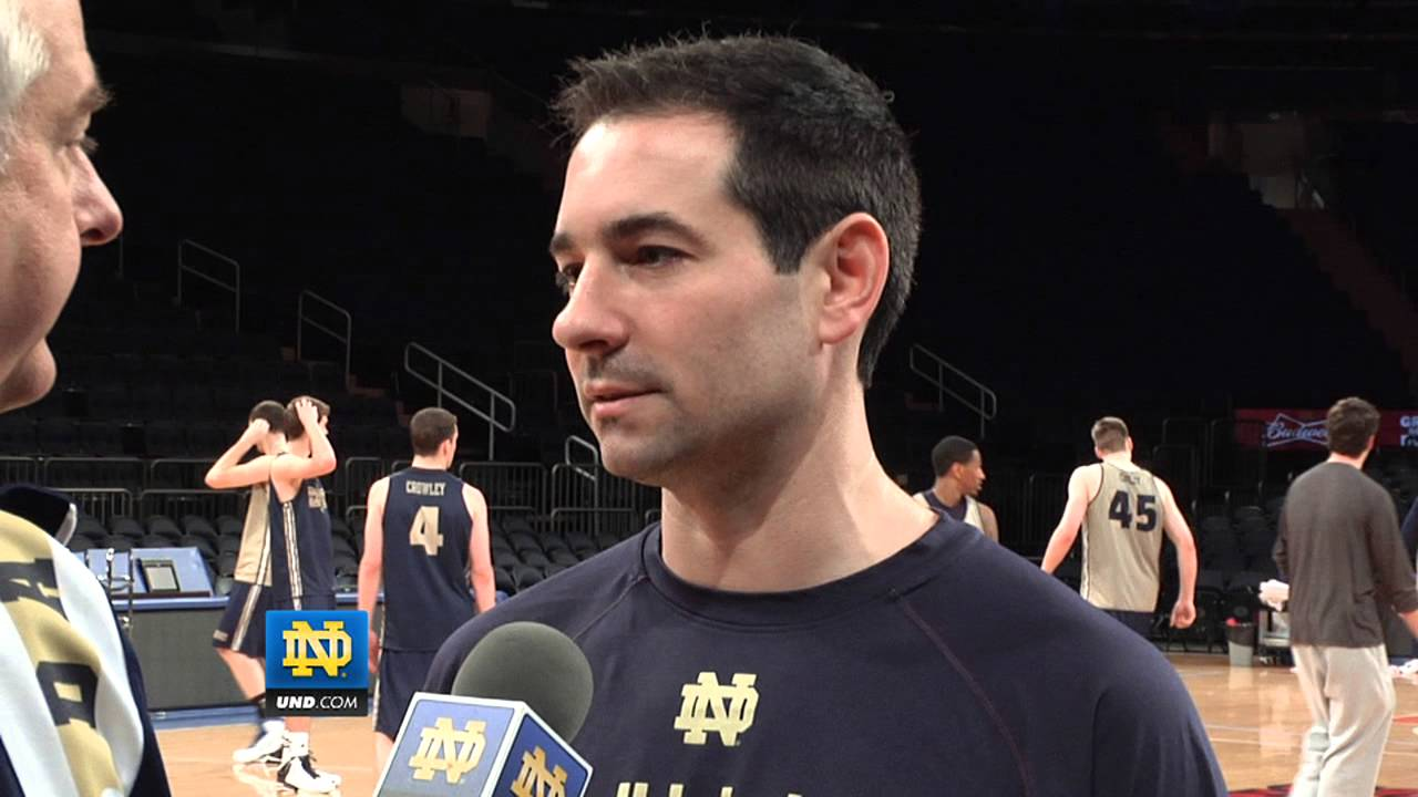 Coach Ingelsby - St. John's Preview - Notre Dame Men's Basketball