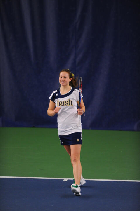 Senior Chrissie McGaffigan claimed a 6-4, 2-6, 6-4 to clinch a Notre Dame victory Monday at Iowa