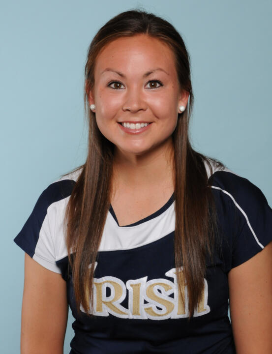 Senior Chrissie McGaffigan is one of two Notre Dame players with a 5-0 singles record this season