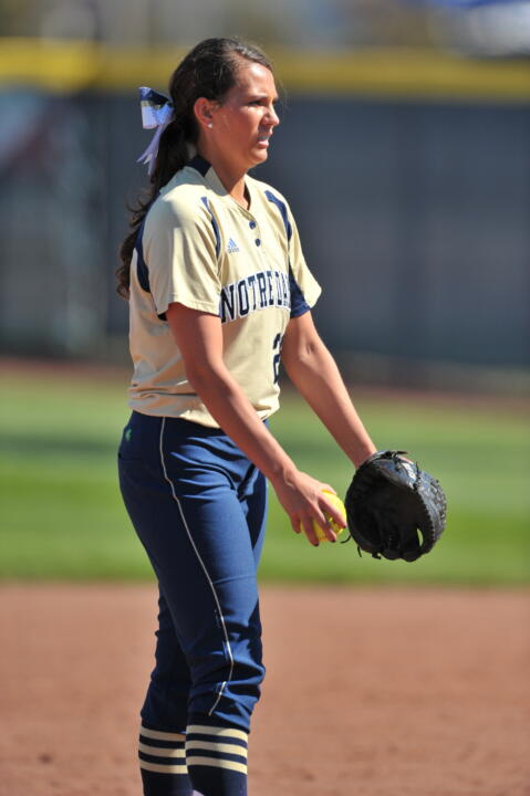 Brittany O'Donnell allowed one run over six innings to pick up the first Notre Dame victory of the season