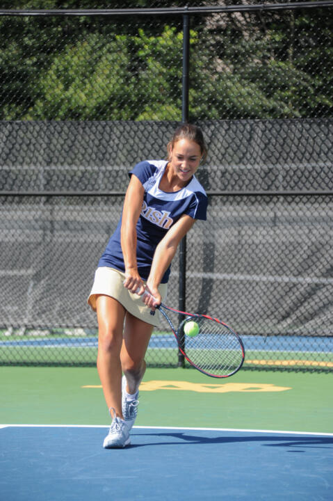 Quinn Gleason won at three singles in three sets, 7-5, 1-6, 6-2, Sunday against Indiana.