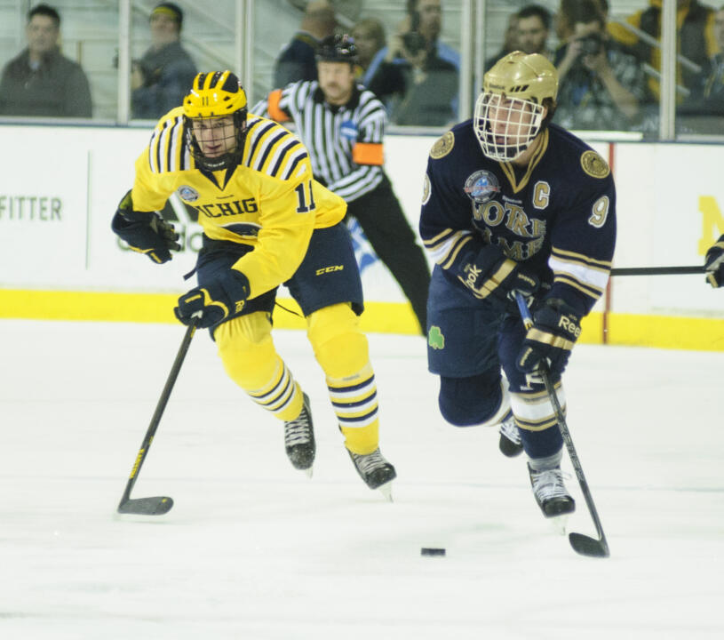 Anders Lee goal in the shootout gave the irish a 2-0 win over Western Michigan.