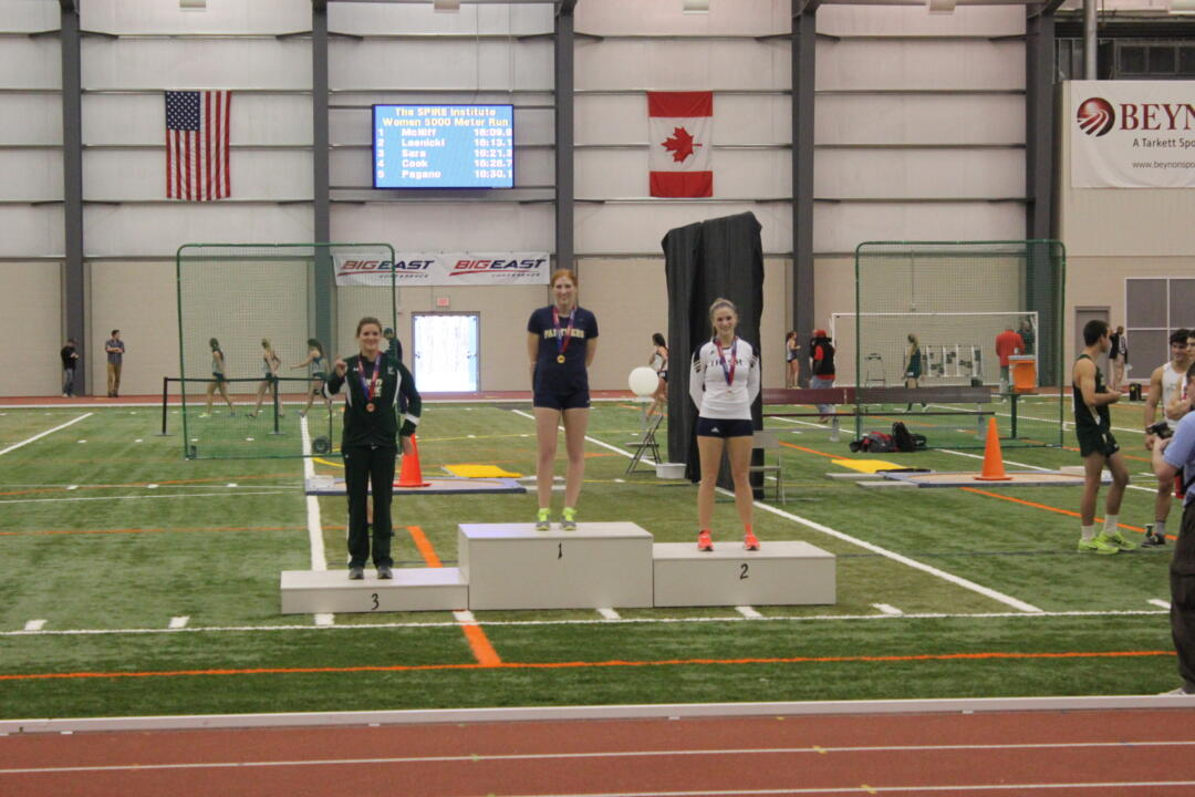 Carly Loeffel earns an all-BIG EAST accolades after placing second in the pentathlon