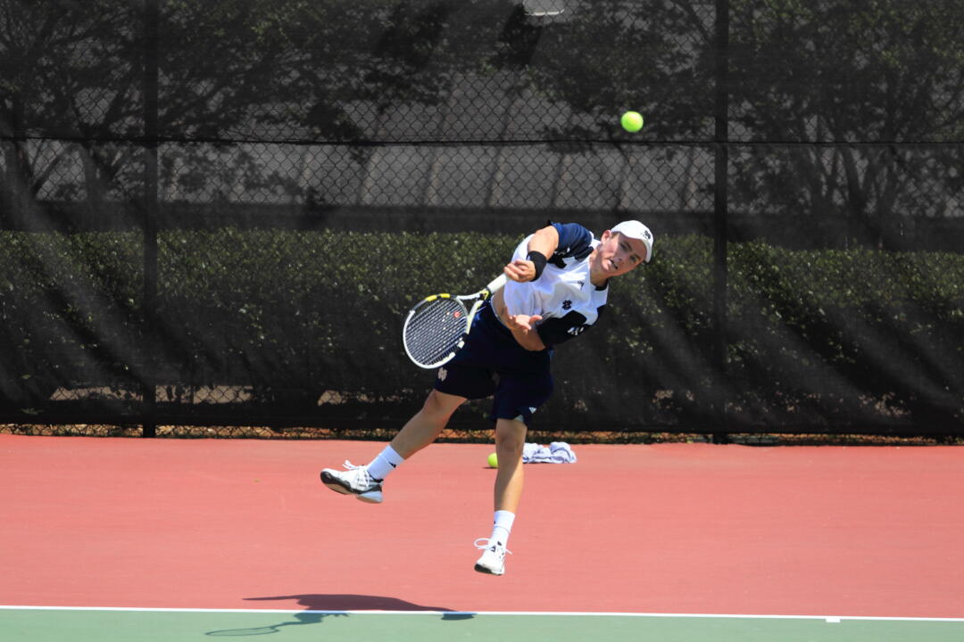 No. 1 singles player Greg Andrews moved up to No. 71 in the latest ITA rankings this week.