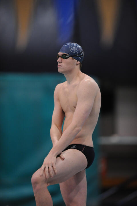 Frank Dyer took home both the 50 and 500 free titles at the BIG EAST Championships.