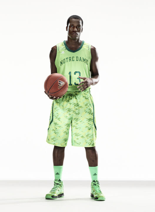 The Notre Dame men's basketball team will make their first appearance in these new adidas uniforms at the 2013 BIG EAST Conference Championship March 12-16 in New York City.