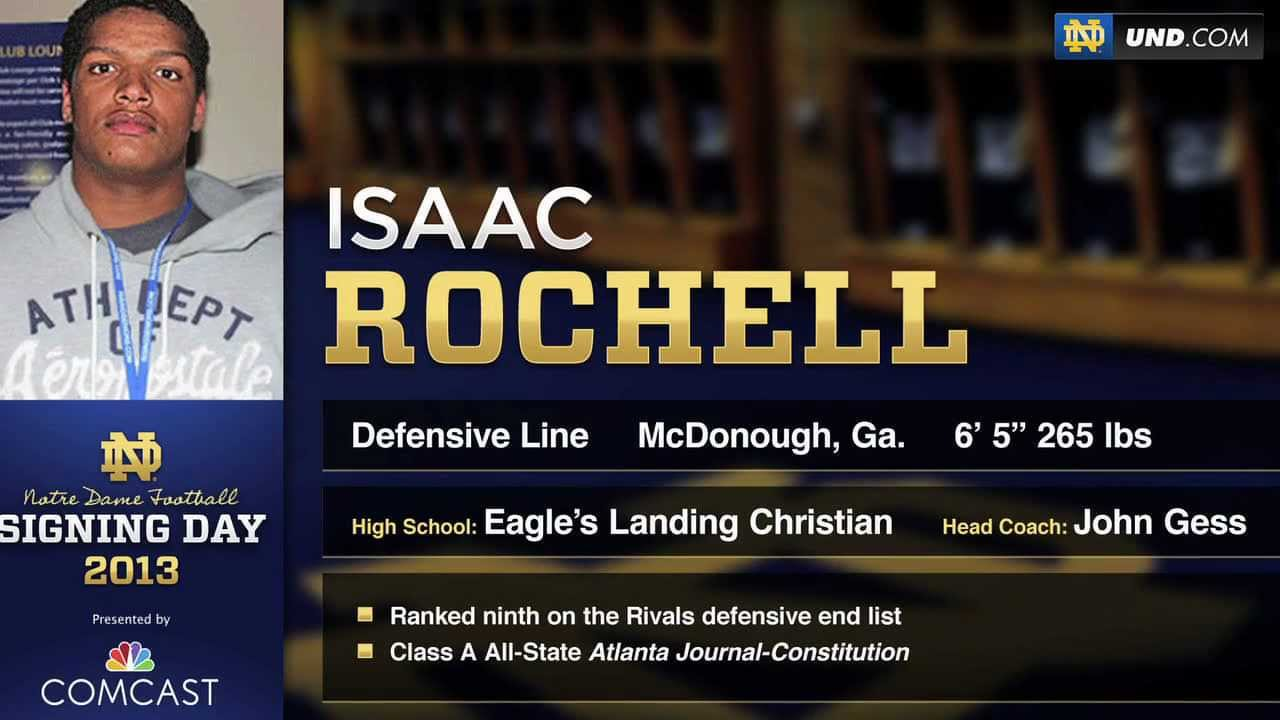 Isaac Rochell - 2013 Notre Dame Football Signee