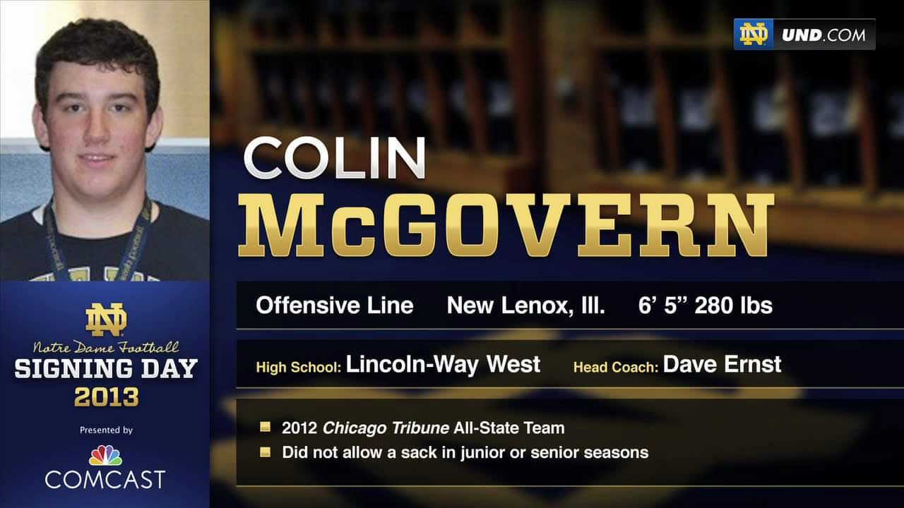Colin McGovern - 2013 Notre Dame Football Signee