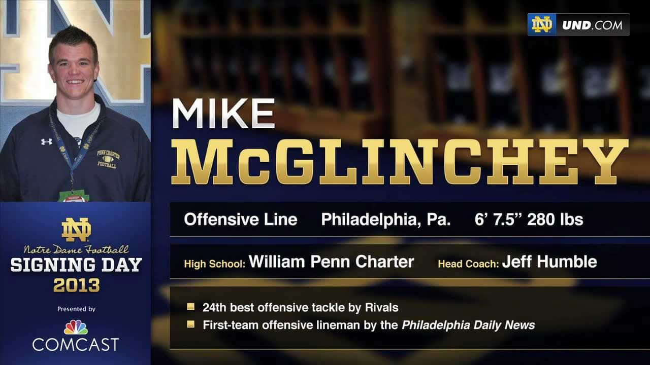 Mike McGlinchey - 2013 Notre Dame Football Signee