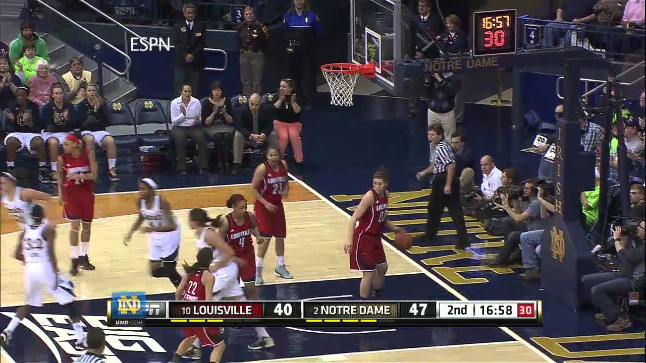 Notre Dame Defeats Louisville Women's Basketball Highlights