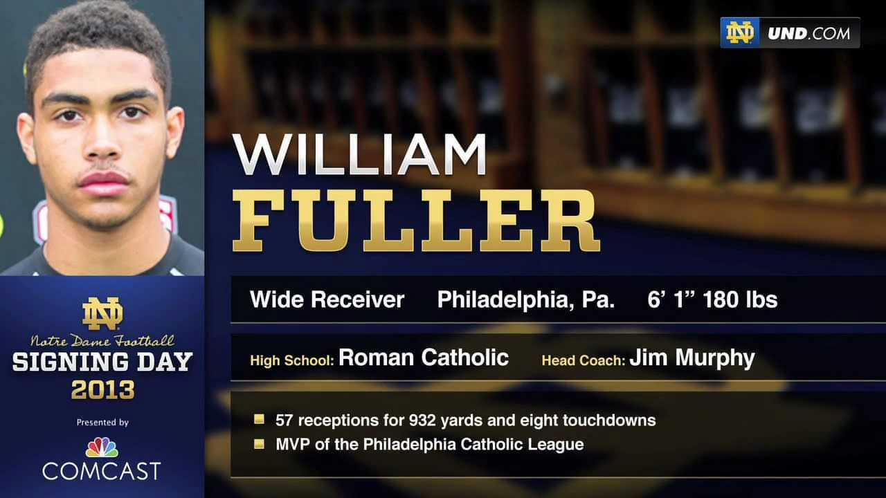 William Fuller - 2013 Notre Dame Football Signee