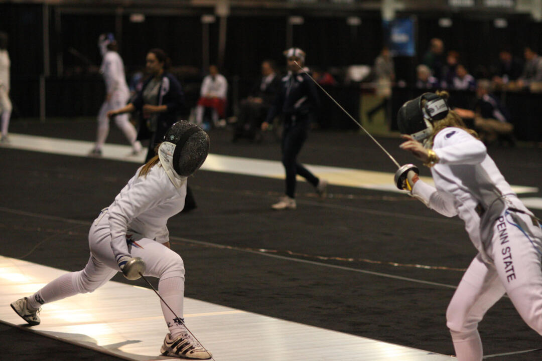 Senior Courtney Hurley placed seventh at the Leipzig Epee World Cup Feb. 9