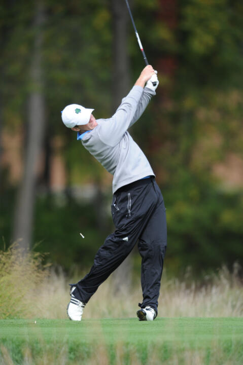 Junior Andrew Lane birdied three of his final five holes in Friday's first round at the E-Z-GO Schenkel Invitational