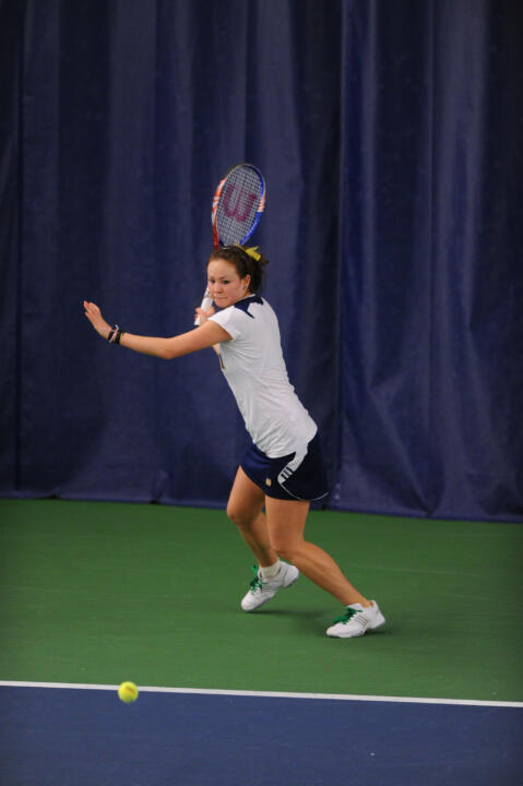 Senior Chrissie McGaffigan improved to 11-3 this season with the clinching singles win at UAB Thursday