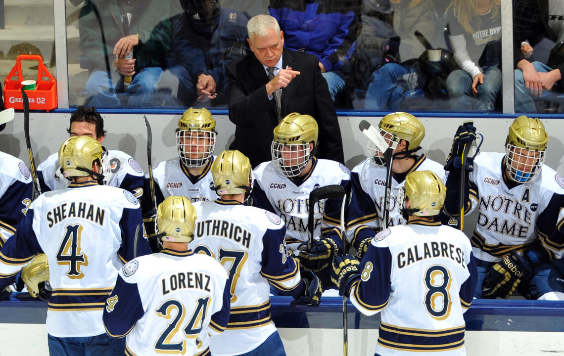 Head Coach Jeff Jackson and the Irish will play host to Bowling Green in the CCHA Quarterfinal Round, March 15-17, at the Compton Family Ice Arena.
