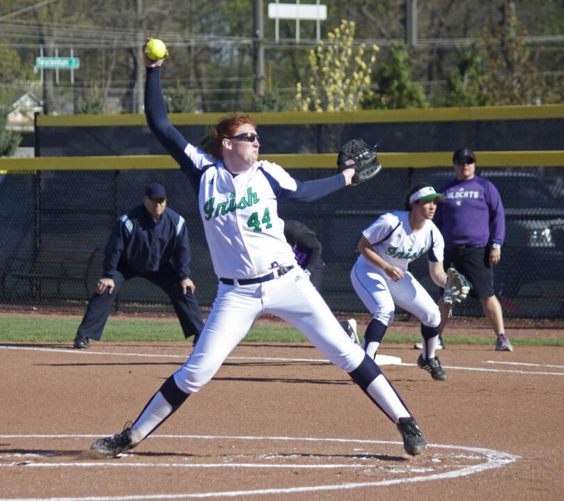 Pitcher Laura Winter leads the BIG EAST in innings pitched (107.2) and strikeouts (126) this season
