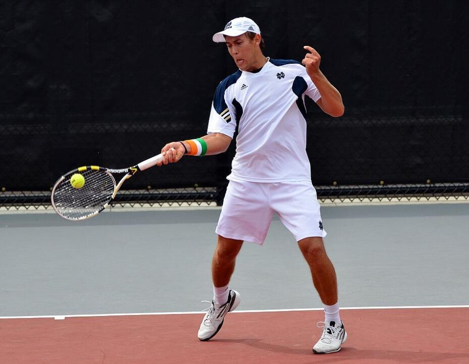 Senior Blas Moros won at three singles to help the Irish earn a 4-1 win over No. 29 Cornell.