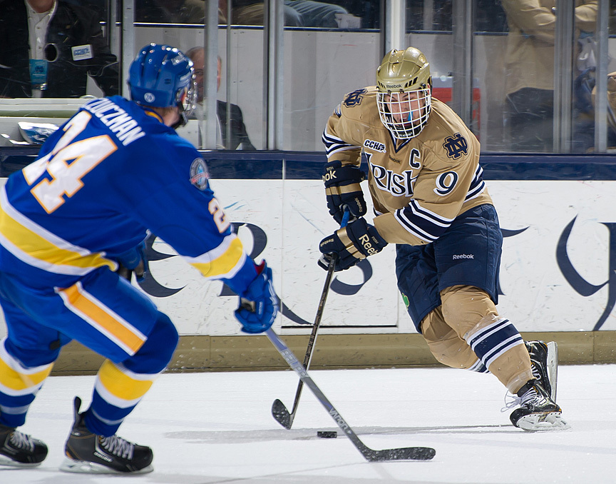 Junior captain Anders Lee is a finalist for the CCHA Player of the Year and Top Defensive Forward Awards.