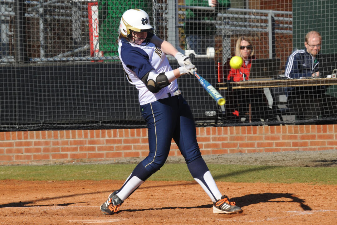 Laura Winter had a team-high nine RBI in Notre Dame's sweep of Seton Hall Saturday