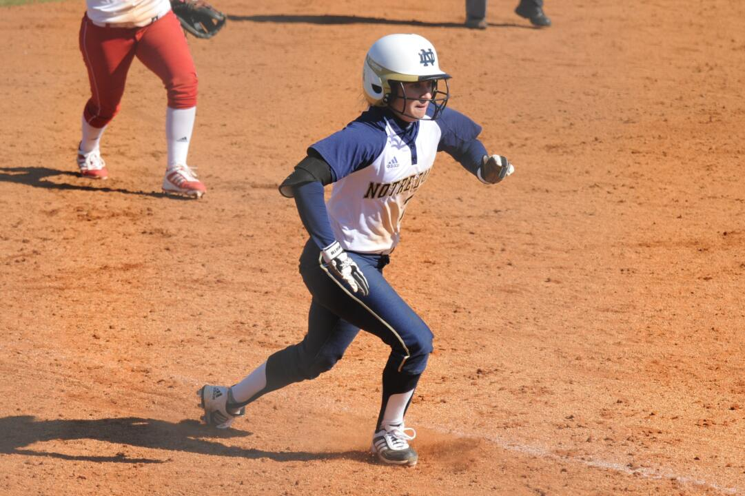 Sophomore Jenna Simon contributed an RBI single in Notre Dame's 5-0 win over New Mexico State Sunday