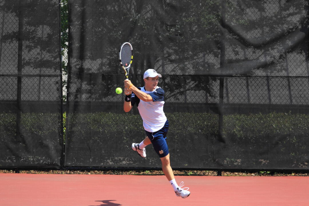 Junior Greg Andrews won at one singles and one doubles Sunday at Wisconsin.