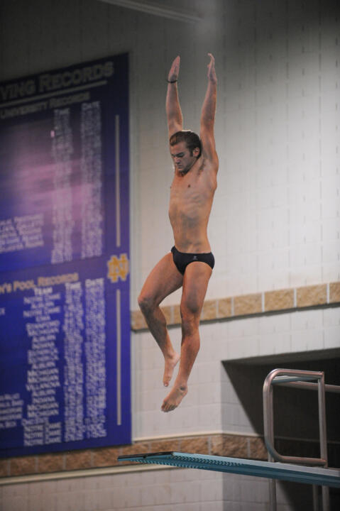 Sophomore Michael Kreft turned in a pair of 20th-place finishes at the NCAA Zone C Diving Championships this weekend.