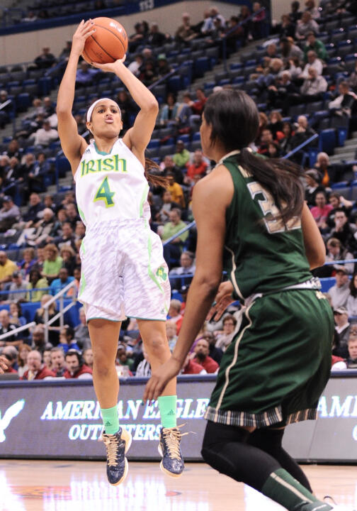 For the second consecutive season, Notre Dame senior guard/co-captain Skylar Diggins has been selected as one of four finalists for the Naismith Trophy, awarded annually to the national player of the year.