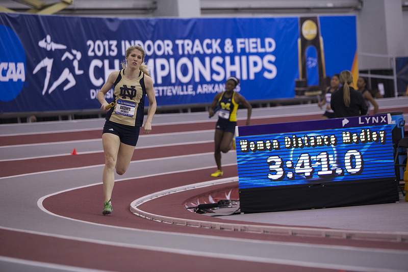 Michelle Brown earned two All-American honors in the DMR and 4x400m relay.
