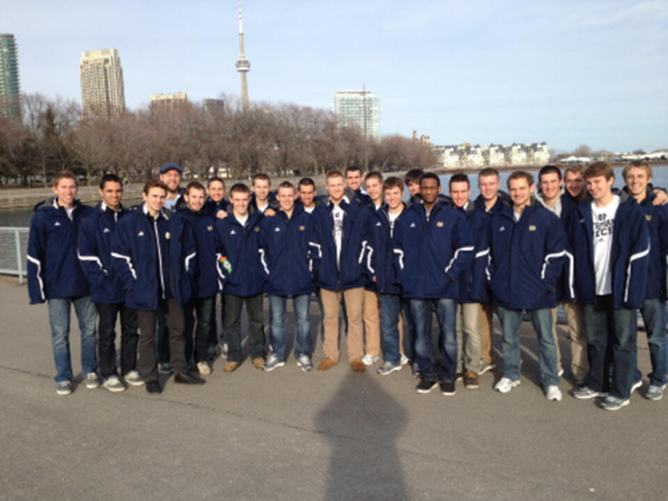 the 2012-13 men's soccer team traveled over spring break to Toronto, Canada for some exhibition matches.