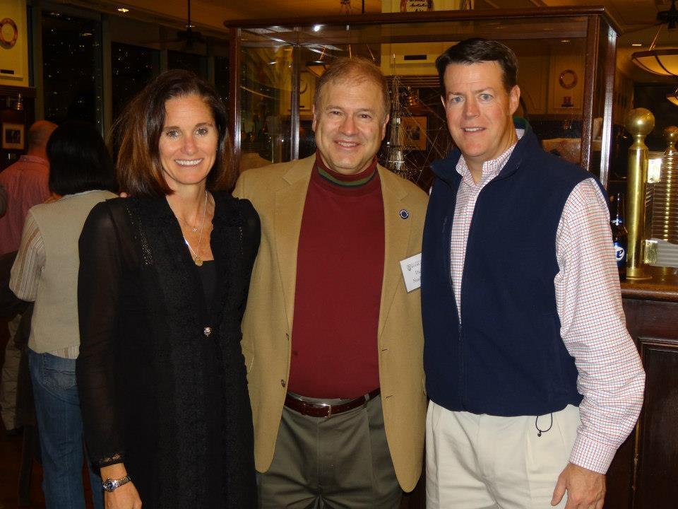 Former President Dick Nussbaum (center) pictured with Haley Scott Demaria and Kevin O'Connor