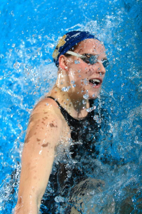 Sophomore Emma Reaney became the ninth fastest performer in 200 yard breaststroke history
