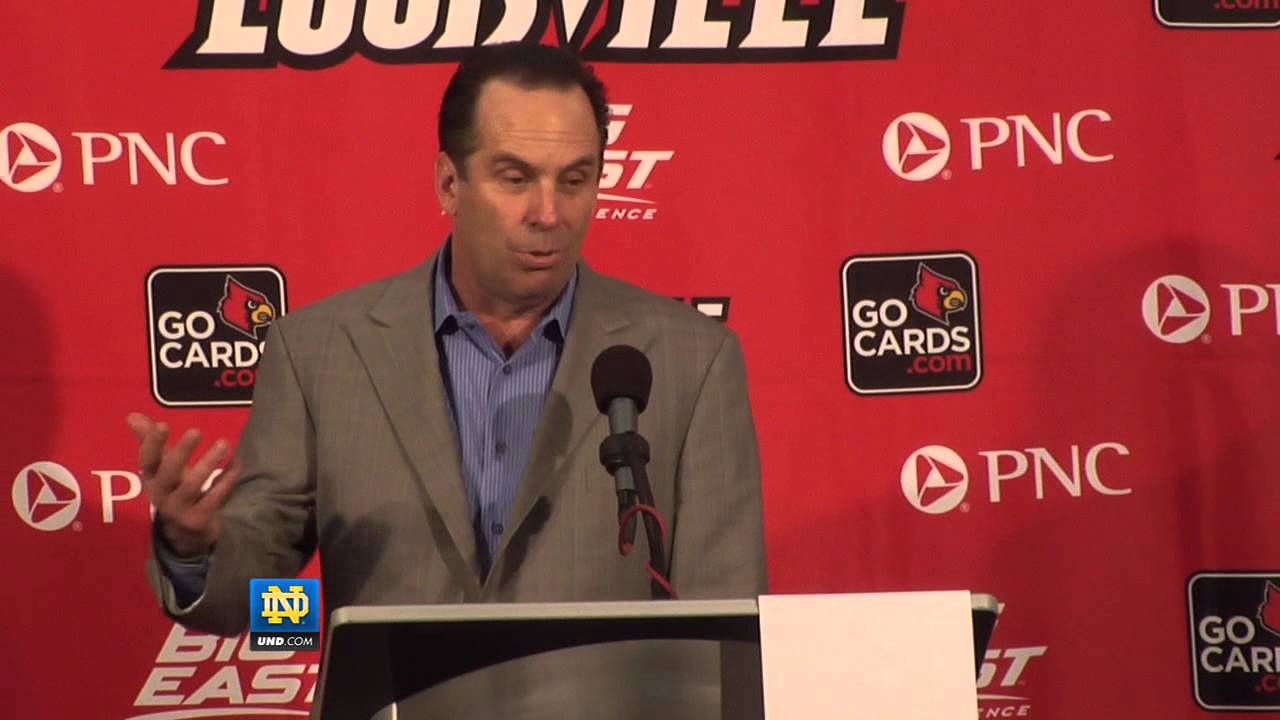 Mike Brey Louisville Post-Game - Notre Dame Basketball