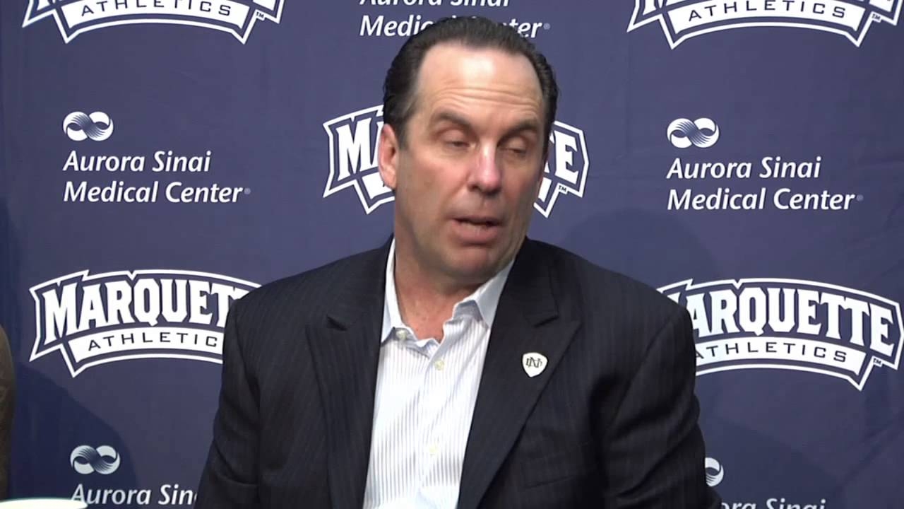 Notre Dame Marquette Post Game Press Conference