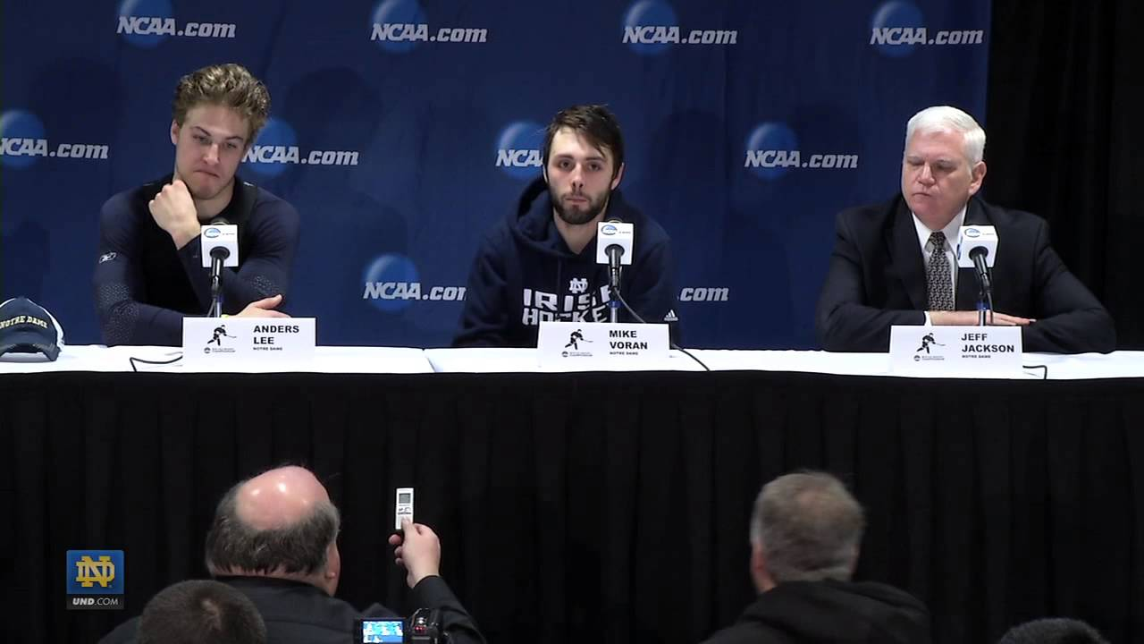 St. Cloud State Post Game Press Conference - Notre Dame Hockey