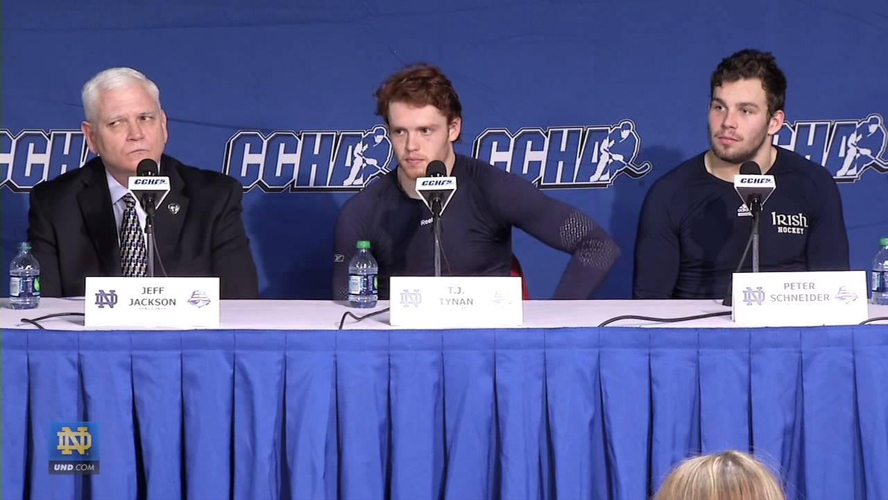 Jackson, Tynan, Schneider Post CCHA Semifinal Press Conference