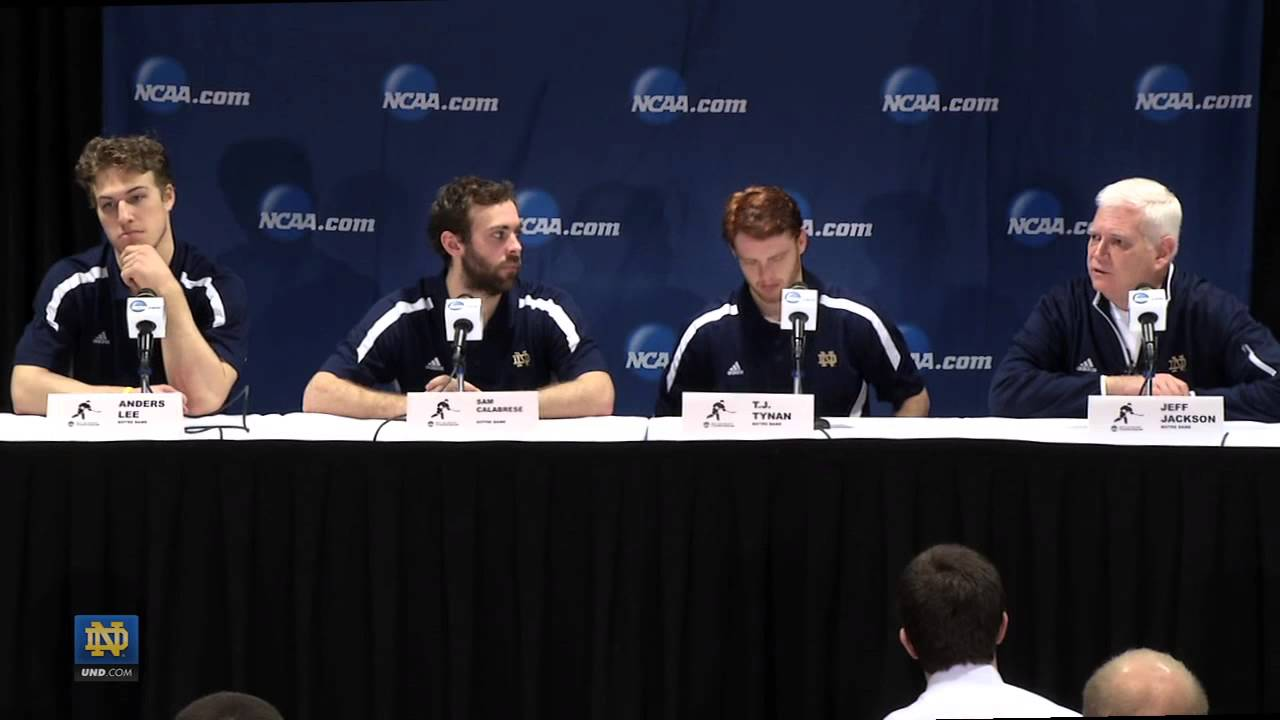 NCAA Regionals Press Conference - Notre Dame Hockey