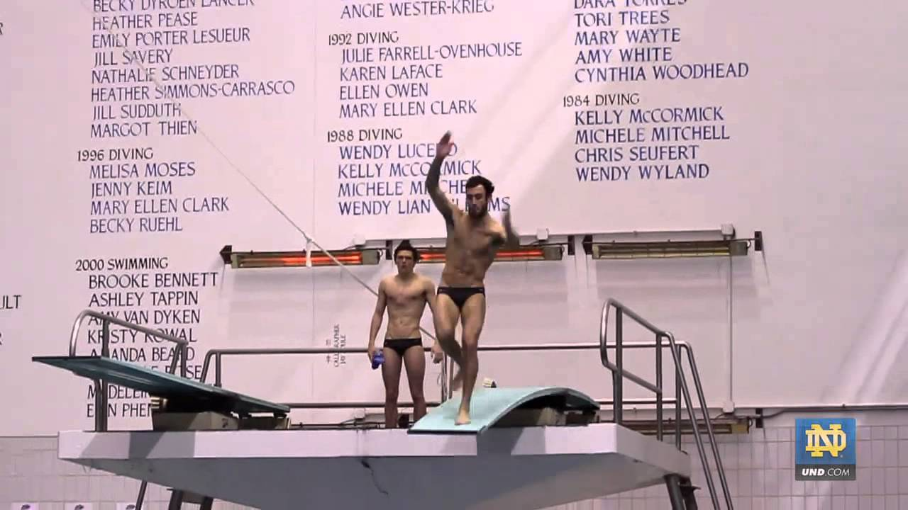 Ready For NCAAs - Notre Dame Diving