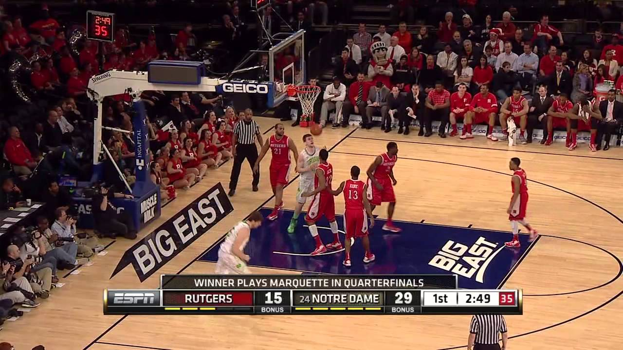 Irish Defeat Rutgers To Advance - Notre Dame Men's Basketball