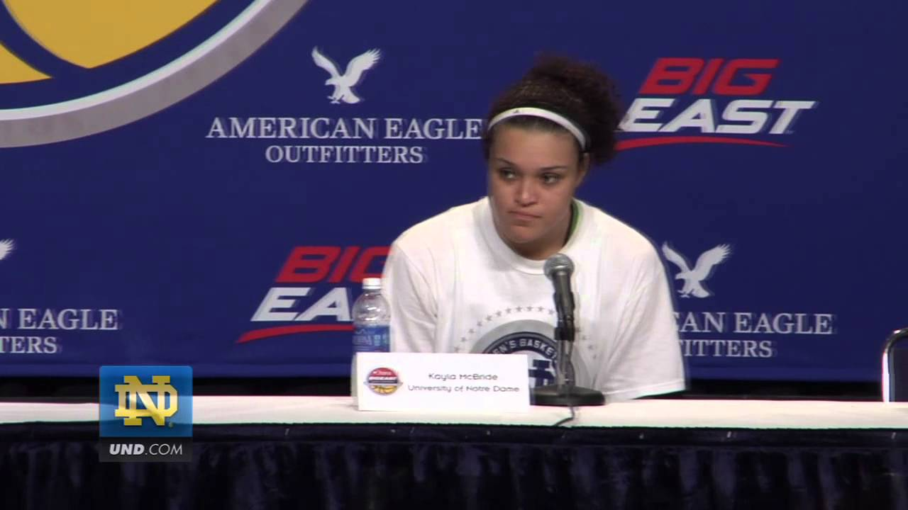 Notre Dame Postgame Press Conference BIG EAST Championship