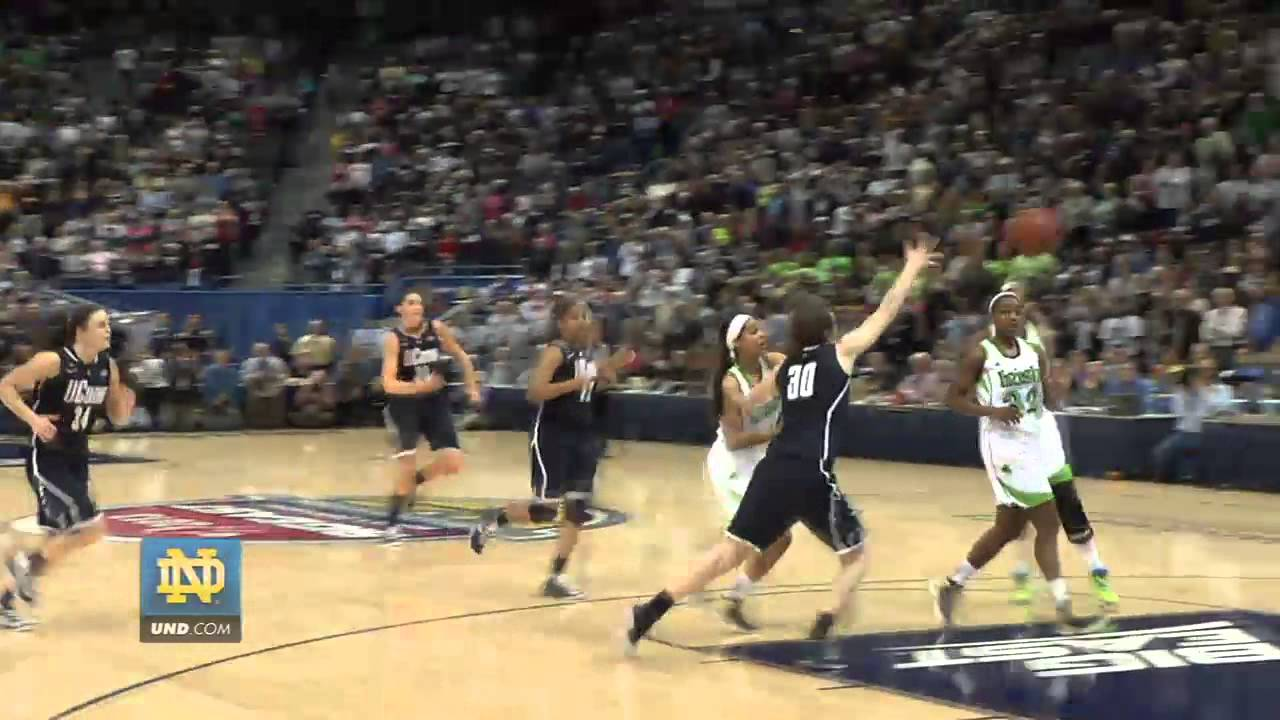 Notre Dame Game Winning Shot Against UConn UND.com Exclusive Angle