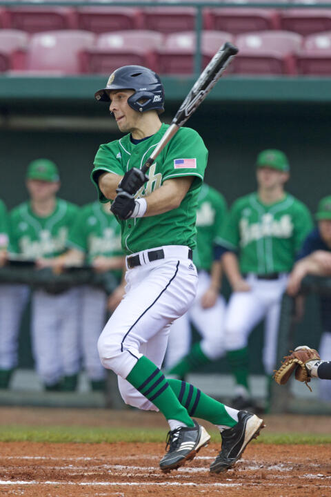 Sophomore DH Phil Mosey had an RBI double and RBI triple Tuesday.