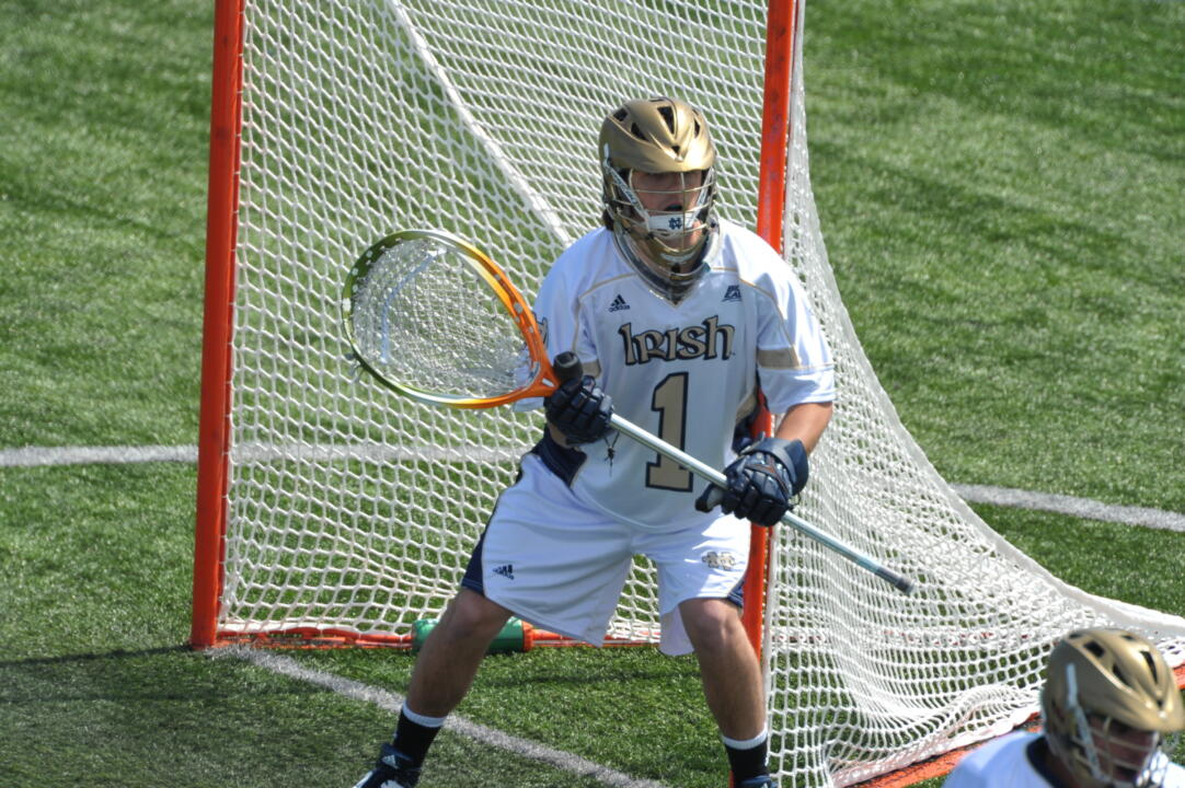 John Kemp made 13 saves in last season's 9-7 win at Georgetown. The Irish defense held the Hoyas to just two second half goals.