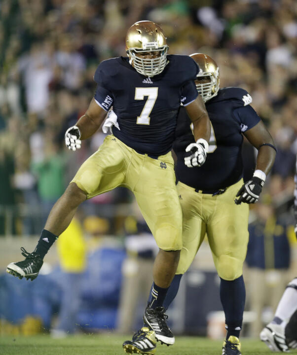Stephon Tuitt and the Notre Dame defense will be in action at the 2013 Notre Dame Blue-Gold Game