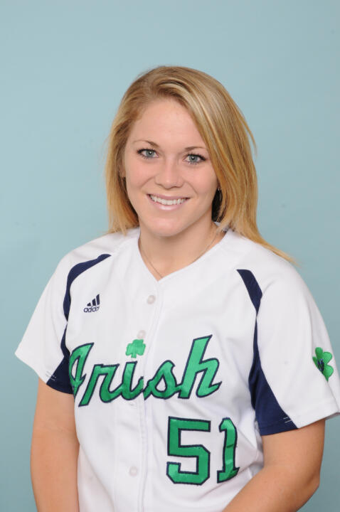 Sophomore Cassidy Whidden hit the second Notre Dame grand slam of the season in an 11-2 win over Rutgers Saturday