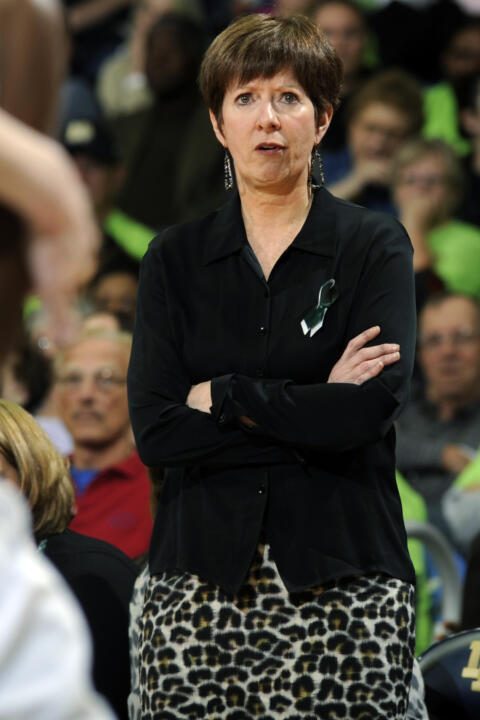 Notre Dame's Muffet McGraw has become the second women's basketball coach to be a two-time recipient of the Associated Press National Coach of the Year award, earning her latest honor on Saturday afternoon at the NCAA Women's Final Four in New Orleans.