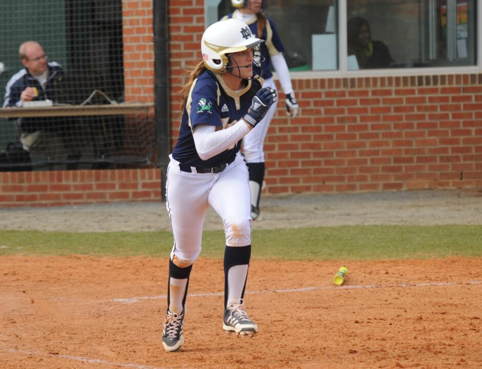 Chloe Saganowich clubbed her first home run of the season in the sixth inning against Pittsburgh Sunday